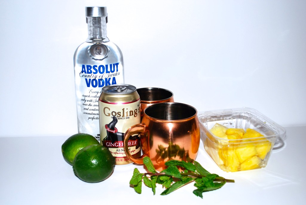 pineapple mint moscow mule