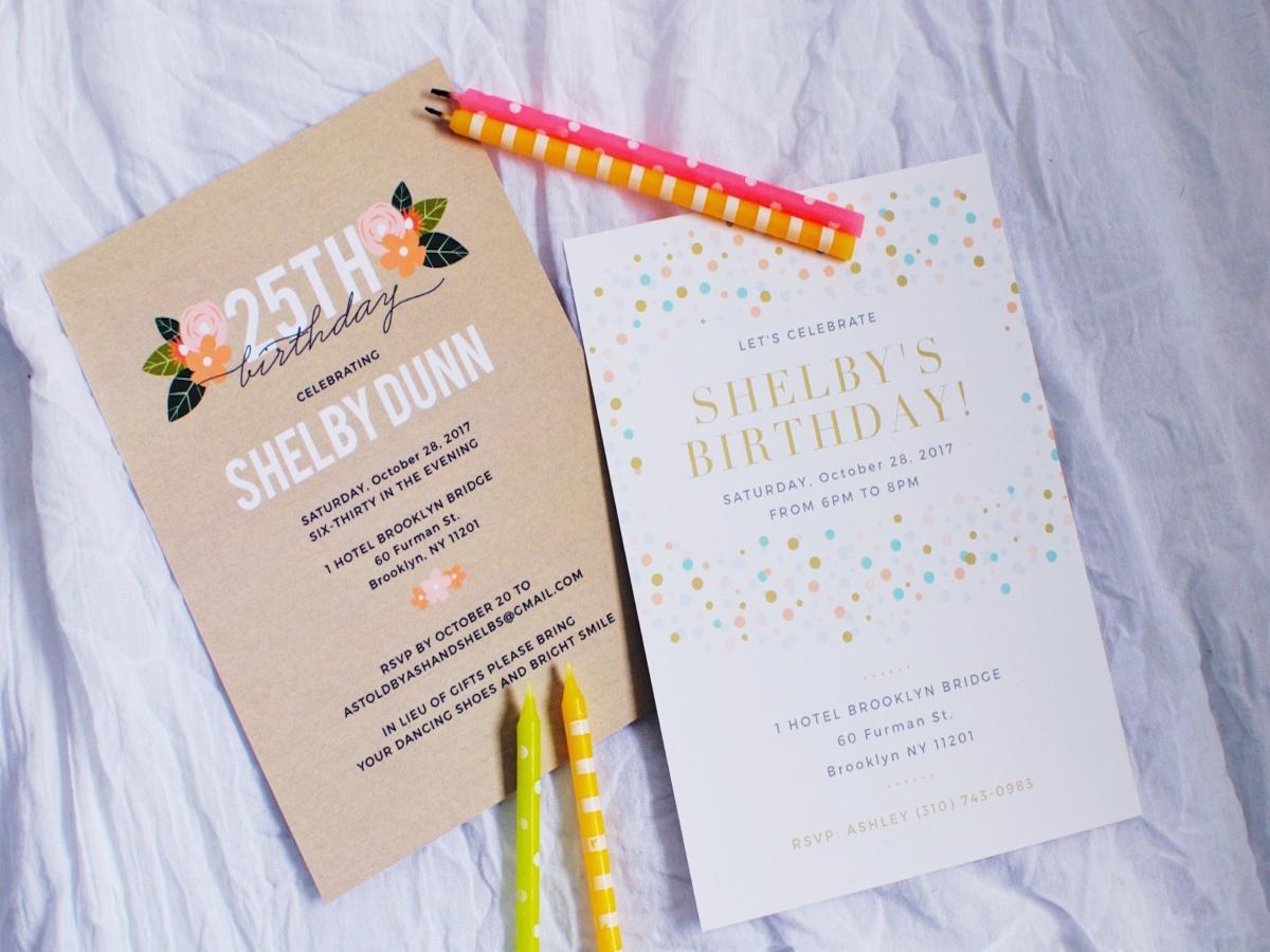 Party Invitation Inspiration | Basic Invite